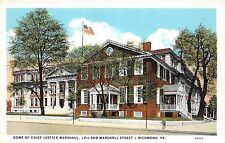 A54/ Richmond Virginia Va Postcard c1915 Chief Justice Marshall Home