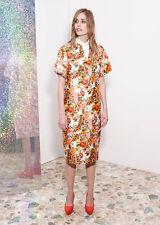 Stella McCartney Merritt  Peach Flower Jacquard Shift Dress IT 40 uk 8 uk 10