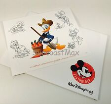 2016 Walt Disney Epcot Flower & Garden Passholder Exclusive 8 x 10 Donald Print
