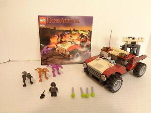 2005 Lego Dino Attack #7475 Fire Hammer Vs. Mutant Lizards Building Set Complete