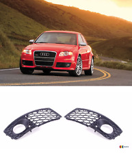 Genuine Audi RS4 B7 N/S Gauche Droit O/S pare-chocs Grill fog light surround noir Set