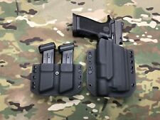 Black Kydex Holster for SIG P320 Full Size Surefire X300 Ultra A w/Dual Carrier