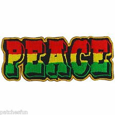 Peace Rastafari Rasta Africa Jamaica Reggae Marley Hippie Iron on Patches #1338