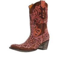 Old Gringo Linda Lou Leopardito Distressed Brass Cowgirl Western Boots 7M