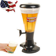 3L Cold Draft Beer Tower Dispenser Plastic w/ Led Shinning Lights Tools New