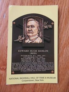 NED HANLON Induction HALL OF FAME Plaque August 4 1996 CANCELED Stamp BALTIMORE