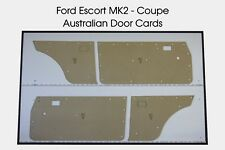 Ford Escort MK2 Coupe Door Cards. Blank Flat Trim Panels. Modified from original