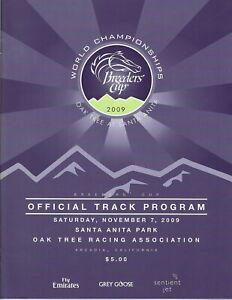 2009 - Breeders Cup @ Santa Anita Park program - Saturday 11/7 in MINT Condition