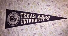 Texas A&M University Pennant Autographed By Vanna White & Pat Sajak
