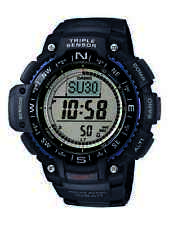Casio Men's Quartz Triple Sensor Multifunction Black Resin 55Mm Watch Sgw1000-1