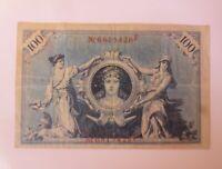 Geldschein Einhundert Mark Reichsbanknote  F-6815426,  1908 ♥ (5G)