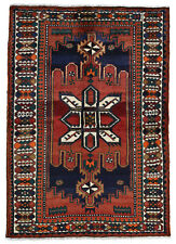 Vintage Tribal Luri Rug, 5'x7', Red/Ivory, Hand-Knotted Wool Pile