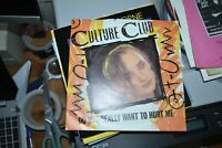"CULTURE CLUB     DO YOU REALLY WANT TO HURT ME   7"" RECORD   VIRGIN  VS518  1982"
