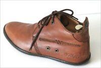 KICKERS Boots Homme à Lacets Cuir Marron Noisette T 40 TBE
