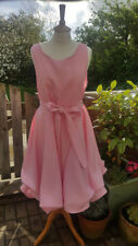 Handmade ruched Alice dress in candy pink size 14