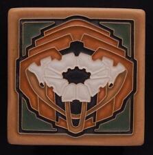 4x4 Arts & Crafts Craftsman Poppy Tile in Green Oak by Arts & Craftsman E3
