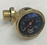 BRASS HONDA CB750 OIL PRESSURE GAUGE chopper bobber cafe cb 750 sohc black 100