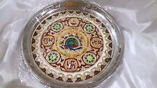 Pooja Thali Ritual Plate Meenakari Indian Decorative Diwali Puja Karvachauth