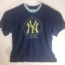 Nike Loose Fit New York Yankees 09 World Series Champions T Shirt XXL Blue Gold
