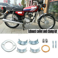 26/18mm Exhaust Collets Collars Clamp Holder Kit Set For Honda CG125 CB125 XL185