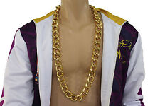 New Men Fashion Necklace Chunky Gold Metal Chain Link Long Maimi Beach Hip Hop