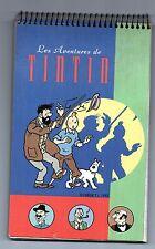 TINTIN. Carnet de notes, spiralé Tintin et Haddock.  1993.