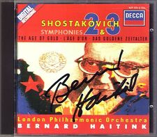 Bernard Haitink SIGNED Shostakovich Symphony 2 3 & The Age of ORO CD to October