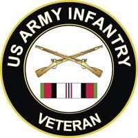 "Army Infantry Afghanistan Veteran 5.5"" Decal / Sticker"