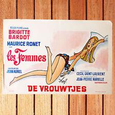 BRIGITTE BARDOT AFFICHE CINÉMA BELGE ORIGINALE  35X55 CM LES FEMMES DE VROUWTJES