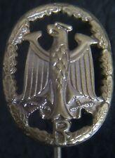 ✚0661✚ German Bundeswehr Military Proficiency Badge MINIATURE BRONZE RESERVIST