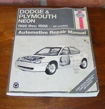 Haynes Dodge Plymouth Neon 1995 thru 1998 Automotive Repair Manual 30034