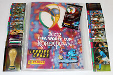 Panini trading cards FIFA WORLD CUP Korea Japón 2002 complete set (140) + viga reticulada