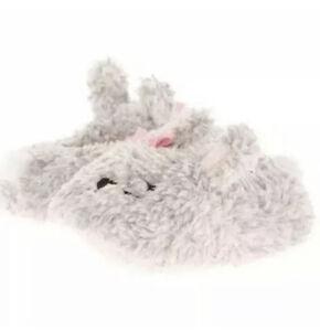 Baby/Toddler Girls Gray Bunny Slippers 2, 3,  4, 5