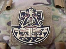 JTG Viking GhostShip Skull Patch, desert / JTG 3D Rubber Patch