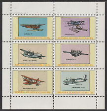 GB Locals - Bernera 2842 - AIRCRAFT - SEAPLANES perf sheetlet unmounted mint