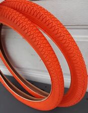 (2)- 20x1.95 bmx  tires, for racing or freestyle bmx bike Orange color