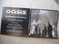 "Oasis 2002 ""heathen chemistry"" Pair(2) Cardstock Promotional Display Flats"