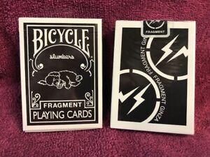1 DECK Bicycle Slumbers Fragment Ginza (black) Japan playing cards USA SELLER!