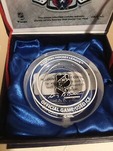 Washington Capitals 2018 Stanley Cup Final Crystal Puck (Filled)