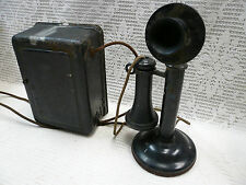 Antique Candlestick Western Electric Co 1915 Stick American Telephone Vtg Phone