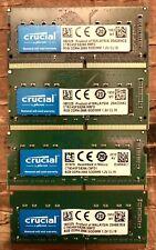 New listing Lot 4pcs -Crucial 8Gb Ddr4 2666 Mhz Pc4-21300 260-Pin Laptop Memory Ct8G4Sfs8266