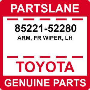 85221-52280 Toyota OEM Genuine ARM, FR WIPER, LH