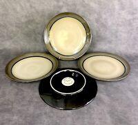 "Set of 4 Sango Roma Sage 4814 Stoneware 8"" Salad Dessert Brown Plates"