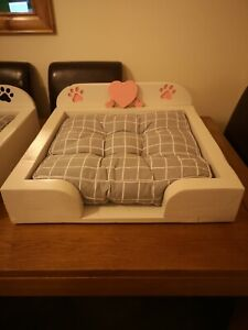 Small girls Wooden Dog Bed