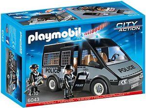 Playmobil 6043 - Voiture de patrouille de  police avec son et lumière