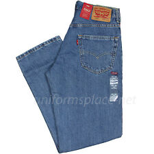 Levis Jeans 550 Mens Relaxed Fit Tapered leg 5 pockets Cotton Denim Jean