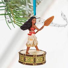 "Disney Store Moana Singing Princess Christmas Sketchbook Ornament Figure 4"" H"