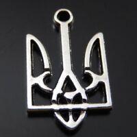 20 pcs Vintage Silver Alloy Metal Special Totem Symbol Pendant Charm 15x25 MM