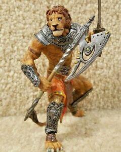 2007 Papo Fantasy World Mutant Lion Warrior Figure Figurine with Ax & Sword