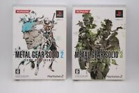 PS2 METAL GEAR SOLID 2 Sons of Liberty & 3 Snake Eater 20th Anniversary Ver. JPN
